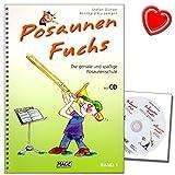 Posaunen Fuchs Band 1 mit CD - die geniale und spaßige Posaunenschule - geeignet für den Einzel- und Gruppenunterricht - mit bunter herzförmiger Notenklamme
