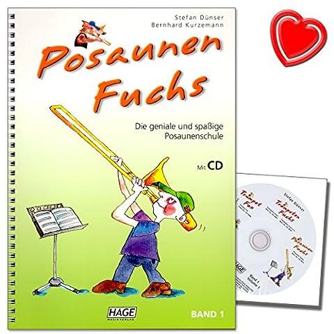Posaunen Fuchs Band 1 mit CD - die geniale und spaßige Posaunenschule - geeignet für den Einzel- und Gruppenunterricht - mit bunter herzförmiger (Service Macht Den Unterschied)