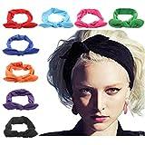 DRESHOW Damen Stirnbänder Kopfwickel Haarband Bögen Zubehör Fliege Schleife Gestrickte Verdrehte Weiche Turban Kopf (Style A)