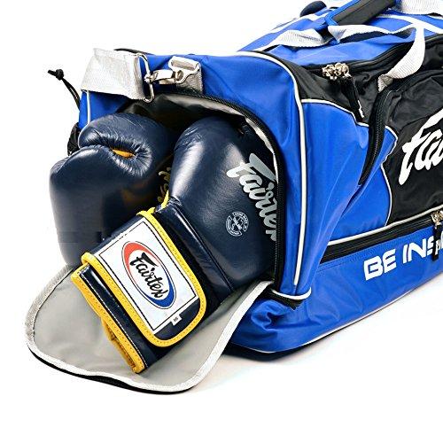Fairtex Trainingstasche - Sporttasche, Kampfsport Fitness Sport Tasche Muay Thai Bag (Blue/Black) Blue/Black