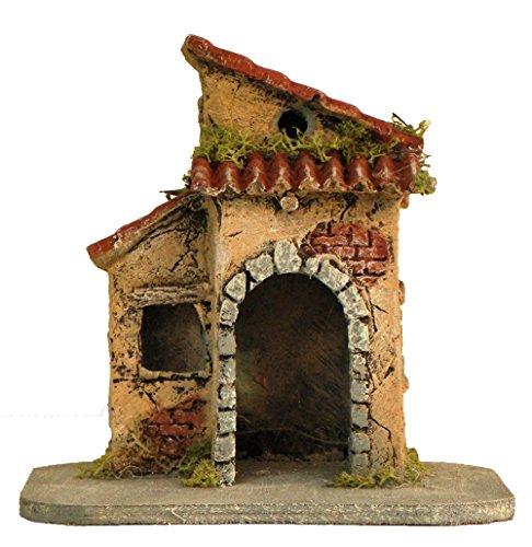 We love christmas composizione di case in sughero e resina