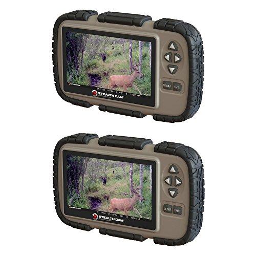 Stealth Cam SD-Kartenleser und Viewer mit 4,3 Zoll LCD-Bildschirm, 2er-Pack (Cam Gsm-stealth)