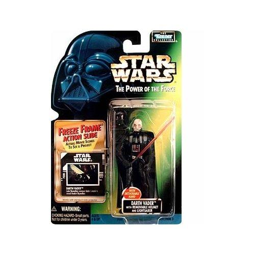 Star Wars POTF2 Power of the Force Freeze Frame Darth Vader w / Removable Helmet and Lightsaber