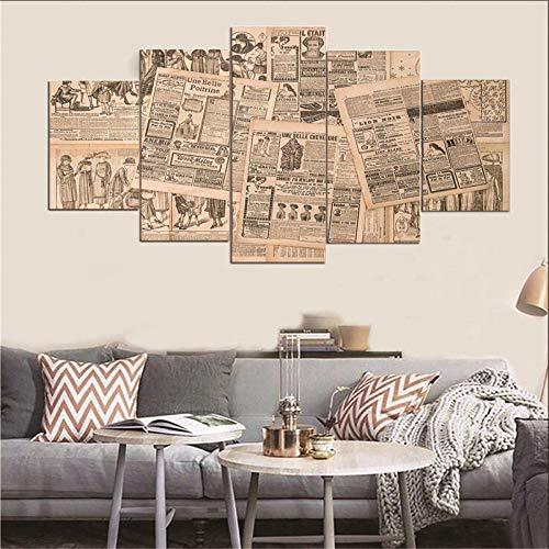 Doorwd 5 pannello stampa su tela giornale europeo regalo di halloween picture art hd artworks decorazione per la casa moderna 150x80cm frameless