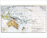 Photographic Print of Map of the races of Oceania and Australasia, from The History of