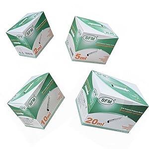 SFM ® Einwegspritzen : 2ml 5ml 10ml 20ml 50ml 3-teilig Luer latexfrei Einmalspritzen (100)