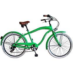 Via Veneto Bicicleta Urbana de Paseo - Cruiser Uomo Verde Fluo Hombre