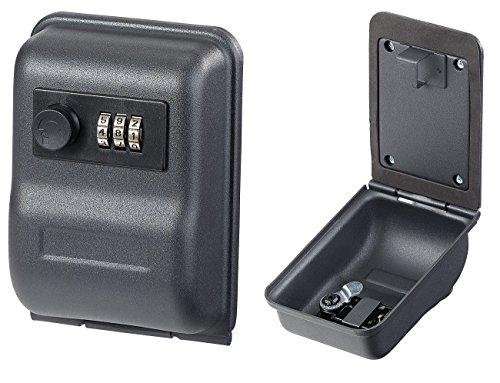 Xcase Schlüsselsafe: Mini-Schlüssel-Safe zur Wandmontage, 0,8-mm-Stahl, Zahlenschloss (Schlüsselbox) (Mini-tresor Mit Schloss)