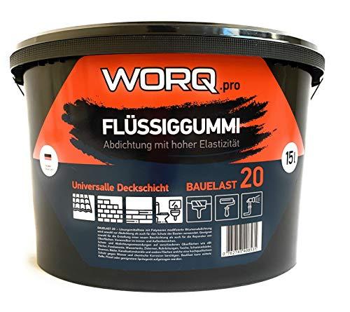 Flüssiggummi 15 Liter - Flachdachabdichtung,Dachsperre, Isolieranschtrich, Dachanstrich, Bitumenanstrich