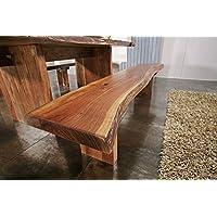 In legno di Acacia massiccio Möbel albero Bank 155 x 38 ...