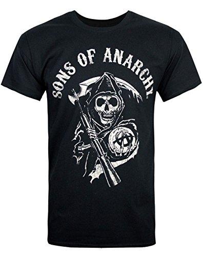 Herren schwarz Sons of Anarchy Reaper T Shirt