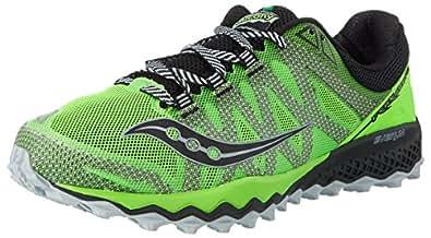 Saucony Men's Peregrine 7 Trail Running Shoes, Green (Slime/Black), 7 UK 41 EU