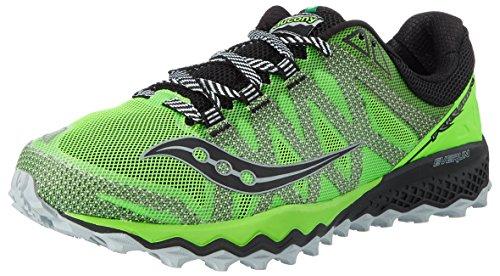 Saucony Peregrine 7, Chaussures de Trail Homme Vert (Slime/black)