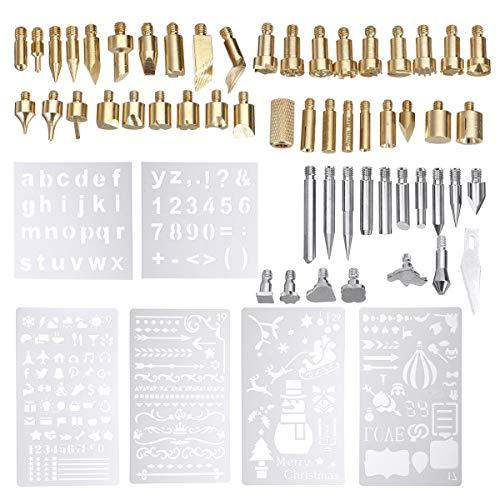 ChaRLes 62 Pcs 60W Elektrische Lötkolben Arbeit Holz Brennen Stift Spitze Kit Pyrographie Werkzeug -