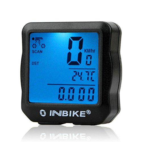 GuDoQi® Fahrradcomputer Fahrradtacho und Kilometerzähler Wasserdichter Tacho für Radsport Realtime Geschwindigkeit und Distanz Track -