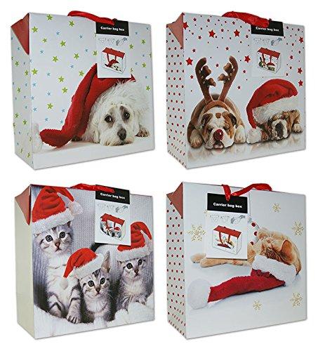 diverse 10 Geschenkboxen Weihnachten Taschenbox Groß 27x27x13 Weihnachtstüte 22-0403-3 Weihnachtstaschen Tüten
