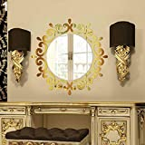 KaariFirefly Modern 3D Mirror Effect Wall Sticker Art Decal DIY Home Office Decoration Gift - Golden