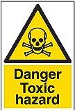 vsafety Schilder 6a013au-s Gefahr giftig Hazard Achtung Substanz und chemischen Schild, selbstklebend, Portrait, 200mm x 300mm, schwarz/gelb
