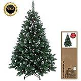 240 cm arbre sapin de Noël artificiel avec de la neige et de pommes de pin