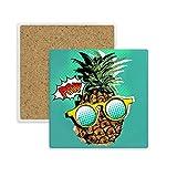 DIYthinker American Style Comic Pineapple Fruit Place Coaster Tasse Porte Absorbent Pierre pour Le Cadeau de Boissons Multicolor