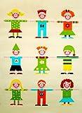Little Helper KIDS-100150-DE IVI Hypoallergener dicker 3D-Kinderspielteppich