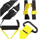 Femor Schlingentrainer bis 300KG belastbar Fitness Sling Türanker Profi-Handgriffe Suspensiontrainer Gelb inklusive Aufbewahrungsbeutel (Gelb) -