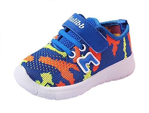Eozy Kinderschuhe Jungen Mädchen Klettverschluss Sportschuhe Sommer Turnschuhe Sneaker Schuhe Blau 20 Innerlänge 12cm (Größe Kleinkind-mädchen-tennis-schuhe 12)