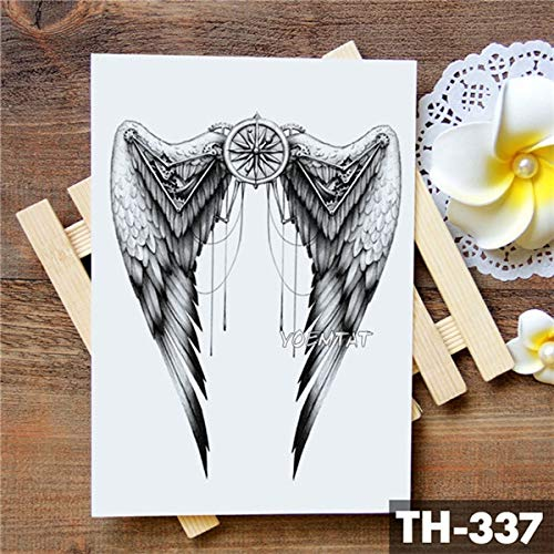 BRT Wing Holy Angel Wasserdicht Temporäre Tattoo Aufkleber Tapfere Ritter Krieger Flash Tattoos Körper Kunst Arm Fake Tatoo 09-TH-337 (Fake Wings Angel)