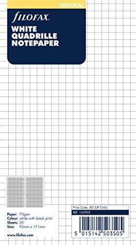 Preisvergleich Produktbild Filofax 132905 Personal Notizpapier, kariert, weiß