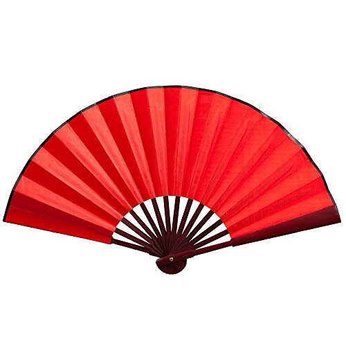 Seide Weiß Handfächer Hochzeit Fächer Chinesisches Abend Party Hand Fächer Papierfächer Taschenfächer Braut Faltbare Fan Tanzen Zubehör Klapp Bambus Festival Geschenk Cosplay Wohnzimmer Deko