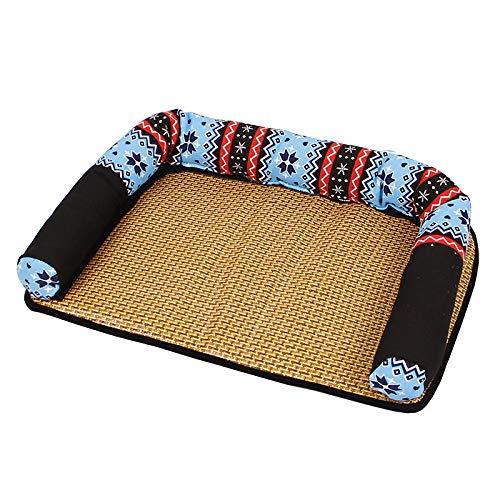 SWJ-dog beds Letto per Cani Premium Ortopedici Memory Foam Letti Impermeabili Facilita La Stuoia del Gatto Pet Divano Artrite Hip Displasia Pain 3 Colori,Blue-69 * 48 * 10cm
