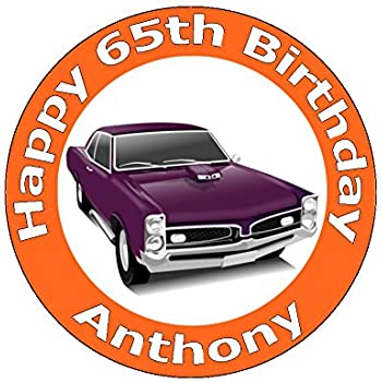 A4 Size Vintage Gto Hot Rod Classic Muscle Car Birthday Cake Toppers