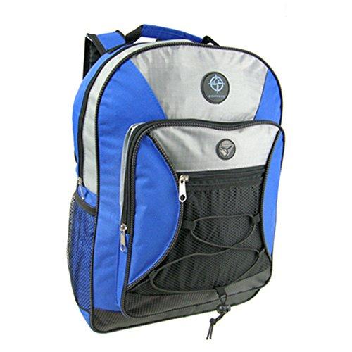 Friendz Trendz-lato della maglia -Due tasche dei bagagli di Carry Daypack Zaino (black/pink) black/blue