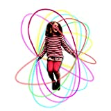 HongMe Colourful LED Light Up Jump Skipping Rope Flashing in Dark Pink Gifts for...