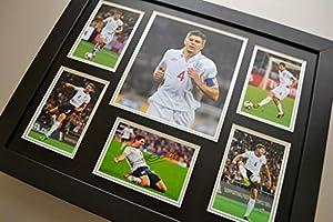 Steven Gerrard Signed Photo Large Framed Autograph England Display + COA by Up North Memorabilia