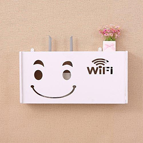 DSZQ WiFi Router Regal/TV-Set-Top-Boxen Magic Storage Regal Dekoration Kasten interlayer Wand hanging Rack Creative Storage Box, A5