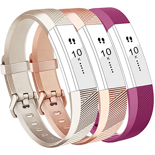 For Fitbit Alta Strap and Alta HR Strap, Adjustable Replacement Sport Strap  Bands for Fitbit Alta and Alta HR Smartwatch Fitness Wristband (Champagne