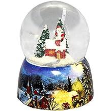 20082b MINIUM-Collection Bola de nieve invierno Papá Noel en chimenea se  eleva con base b2b8c28fc8bd9