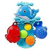Tonor Baby Badespielzeug Badewanne Dusche Delfin mit Rotierende Seestern