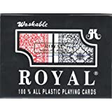 ROYAL 100% PLASTIC POKER SIZE CARDS 2 DECK SET by Royal