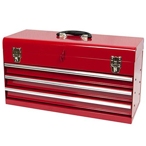 Werkzeugkiste, standart, 3 Schubladen, rot