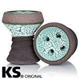 KS APPO - Cabezal para pipa de agua (piedra, Ice Edition), color turquesa