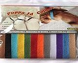 Hundehalsbänder zur Identifizierung für Welpen von Juvale, 12 Stück, mit verstellbaren Klettverschlüssen in 12 Farben