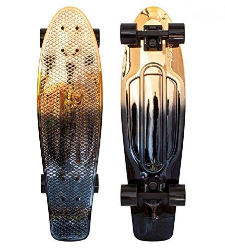 "Cruiser Complete Penny Skateboards Metallic 27\"" Black Gold Complete"