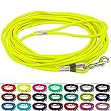 LENNIE BioThane Schleppleine, rund, Ø 8mm, Hunde ab 25kg, 5m lang, mit Handschlaufe, Neon-Gelb