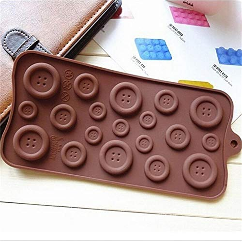 SULUO Button Shape Chocolate Mould Big Small Buttons Chocolate s Cake Cookie Silicone Chocolate DIY Fondant Soap Supply-in Cake Molds,1 (Big-muffin-tin)