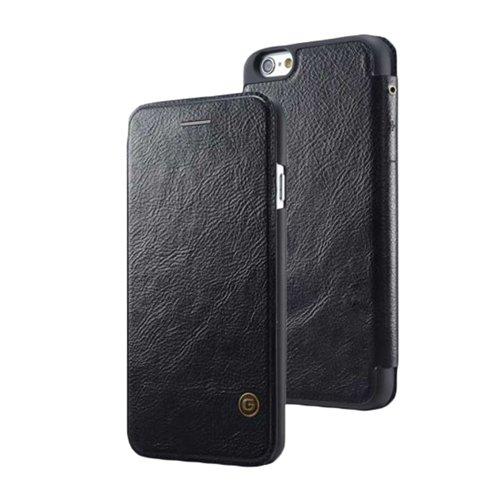 F8Q Men Vintage PU Housse en cuir Ultrathin affaires Cover Flip Case pour iPhone 6 noir