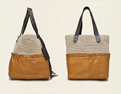 DJB/Woven Leder Bicolor Fashion Single Schulter Hand Tasche 2