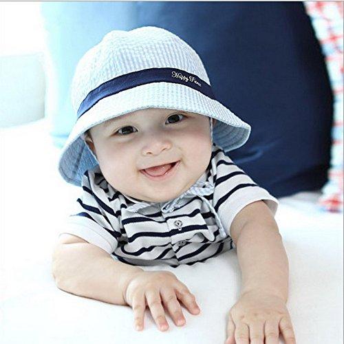 a52556049c8f 19% OFF on Generic Coffe   Summer Baby Cotton Hats Stripe Cap Sun ...
