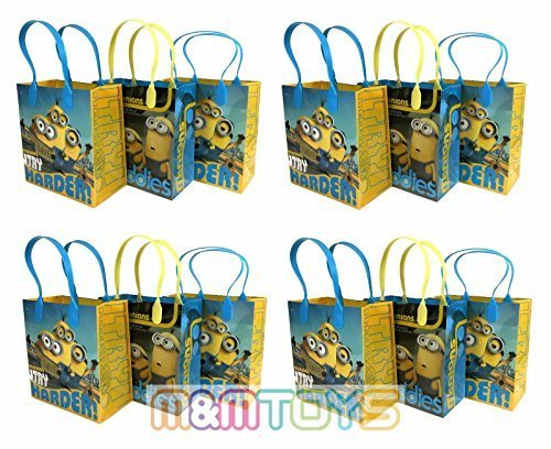 12pc-minions-bob-kevin-stuart-birthday-party-favor-goody-loot-gift-candy-bags-by-brand-new